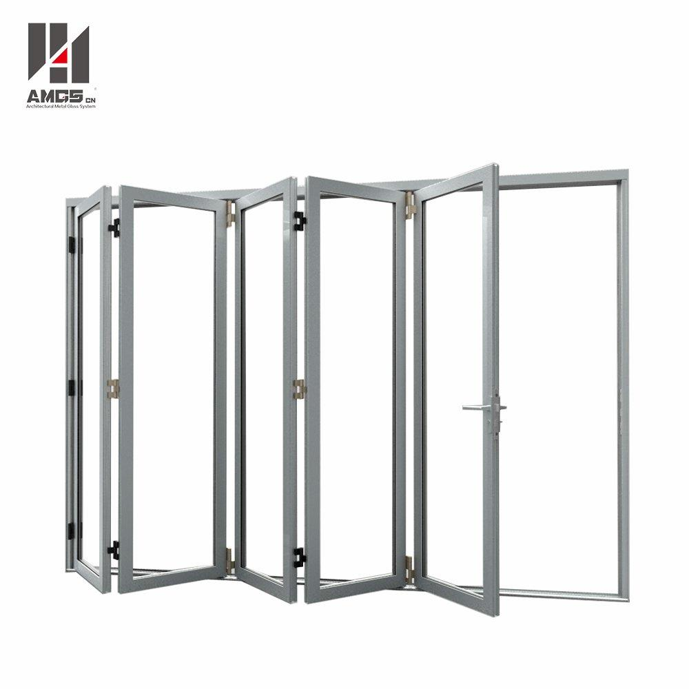 Customized Aluminum Folding Door With Double Glazing