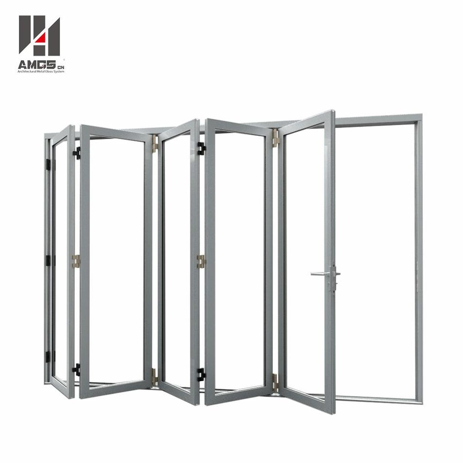 Customized Aluminum Folding Door With Double Glazing