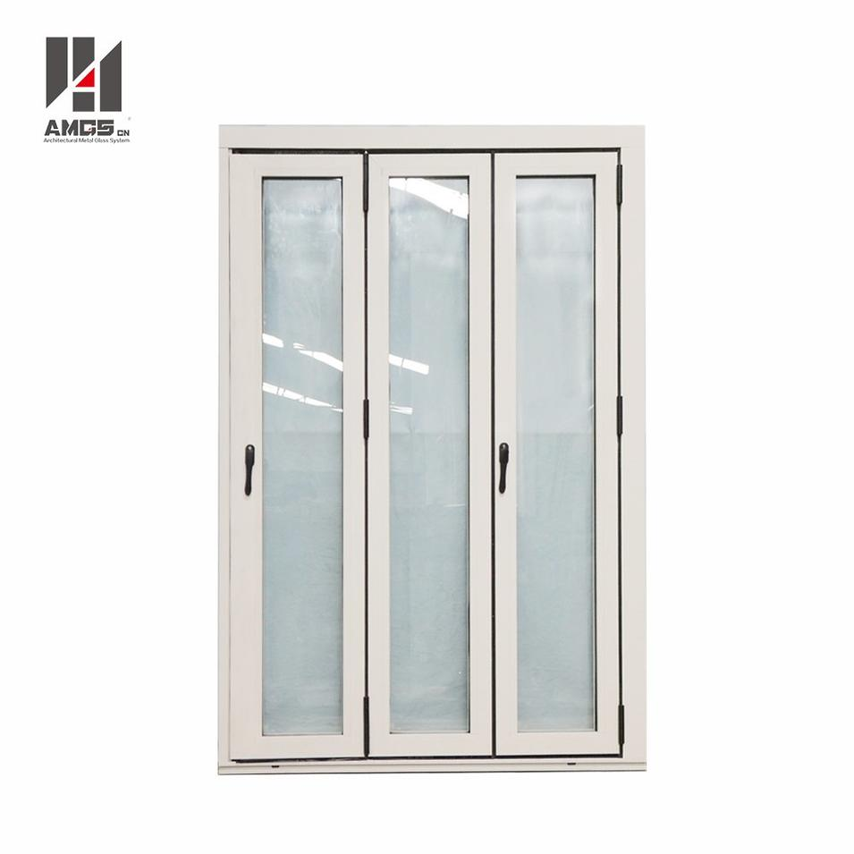 Exterior Commercial Aluminium Accordion Bifold Patio Doors With Double Glazed