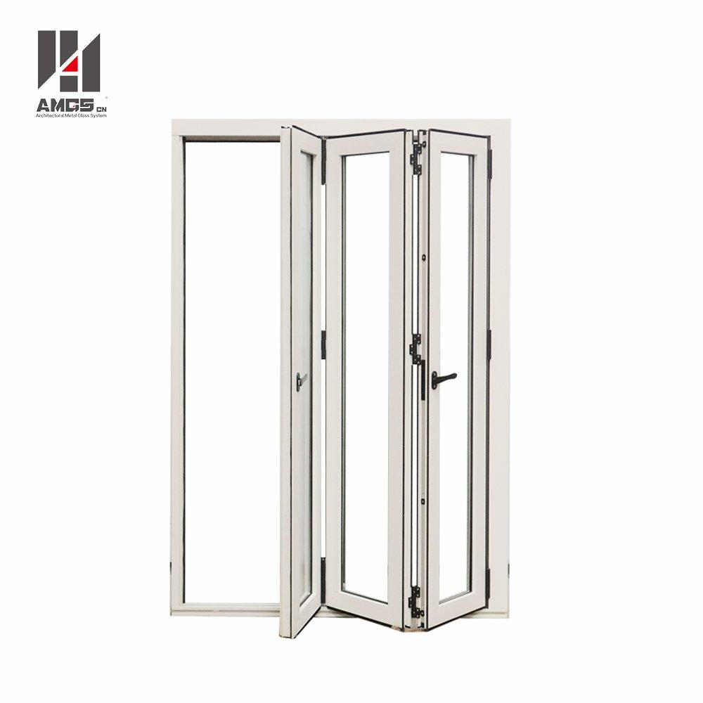 Exterior Commercial Aluminium Accordion Bifold Patio Doors With Double Glazed