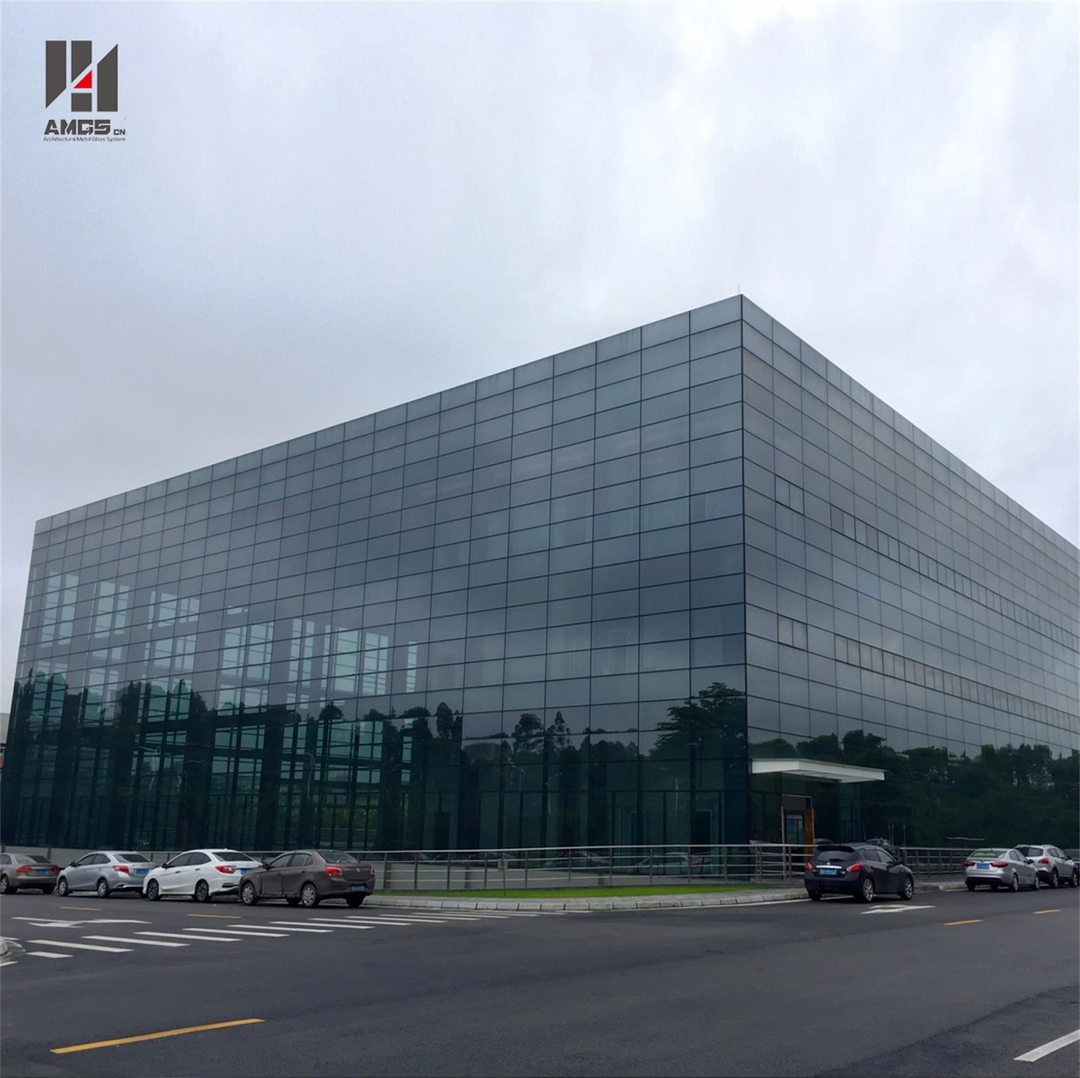 Popular Design Frameless Glass Facade Curtain Wall