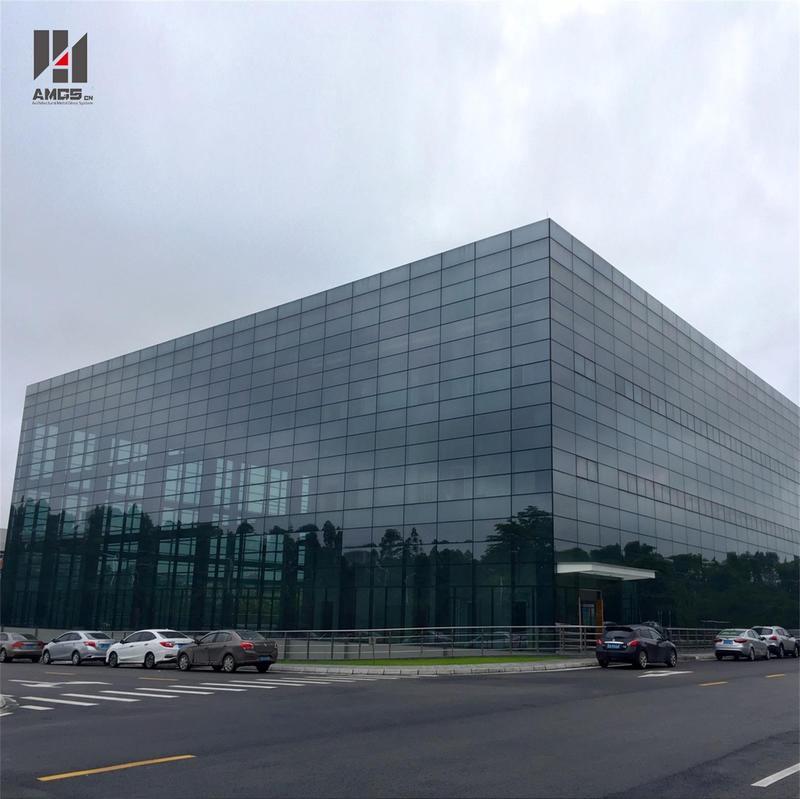 Popular Design Frameless Glass Facade Curtain Wall
