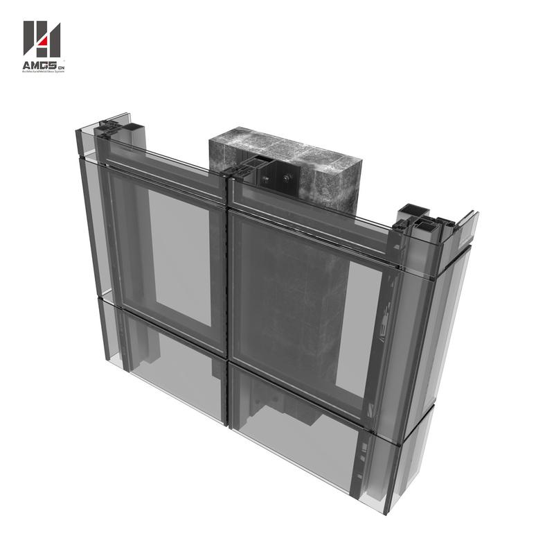 Mirror Reflection Structural Glass Curtain Wall Exterior Building Glass Walls