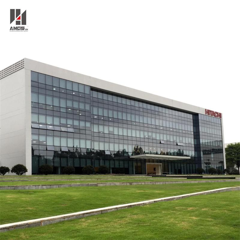 Moden Architecture Exterior Facade Reflective Toughened Glass Curtain Wall