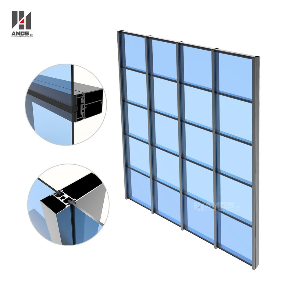 Building Facade Glass Panel Aluminum Glass Curtain Wall Manufacturer