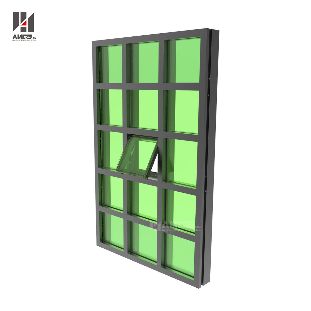 Aluminum Curtain Wall System For Exterior High Buildings
