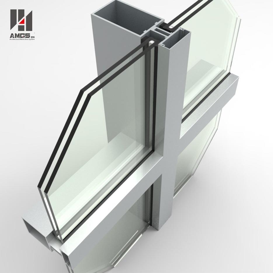 Glass Curtain Wall For Exterior Construction With Good Price And High Quality