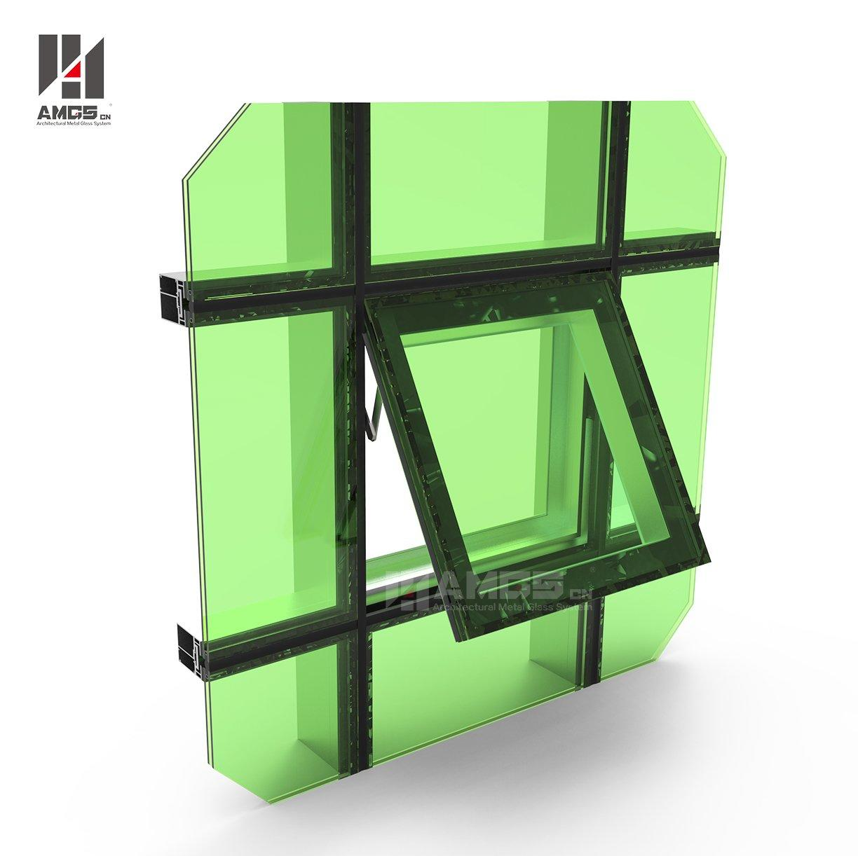 Mirror Reflection Structural Glass Facade Curtain Wall