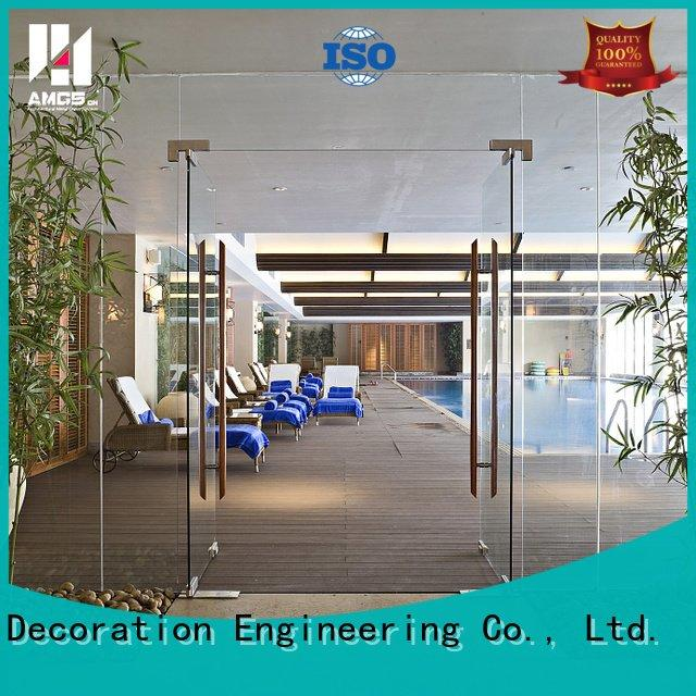 Hot double door swing interior double swing door doors AMGS