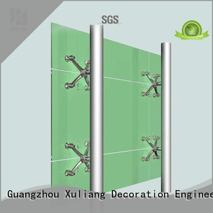 AMGS Brand building curtain office glass curtain wall cost