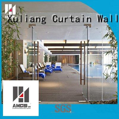 frameless doors commercial glass AMGS double door swing