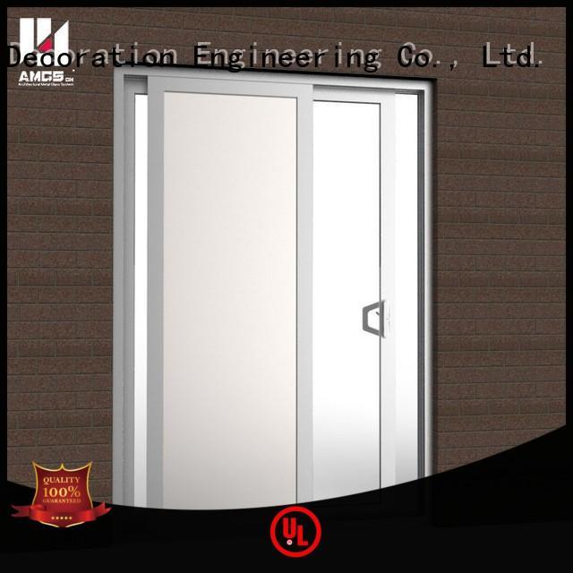 profiles aluminium sliding doors single glass AMGS company