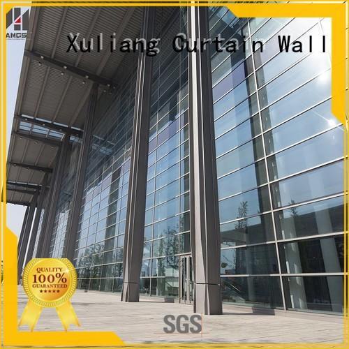 buildings Custom double glazed curtain wall curtain AMGS