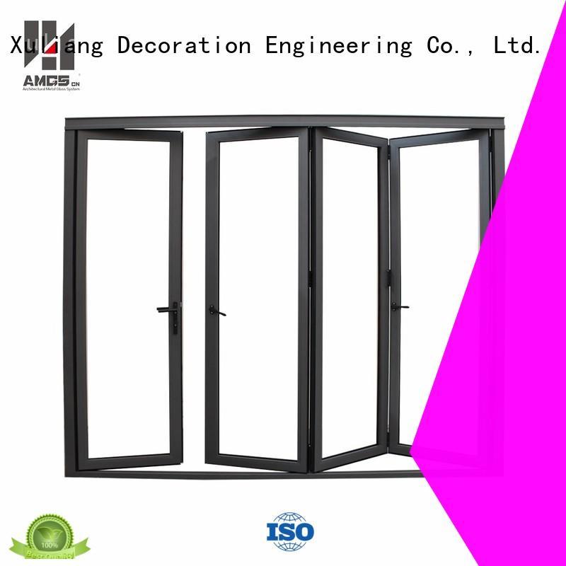 best aluminium bifold doors high standard folding aluminium bifold doors AMGS Brand