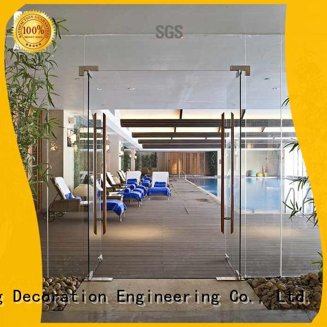 AMGS Brand glass commercial interior good stability restaurant swinging doors
